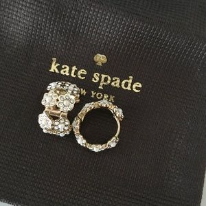 kate spade Jewelry - Kate Spade Pearl & Crystal Flower Earring
